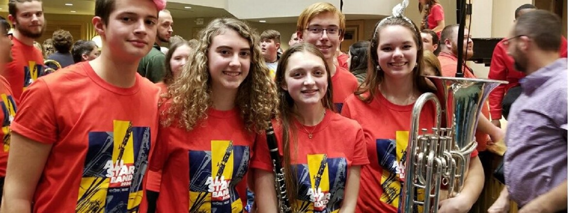 Kent State Honors Band participants representing Crestwood!