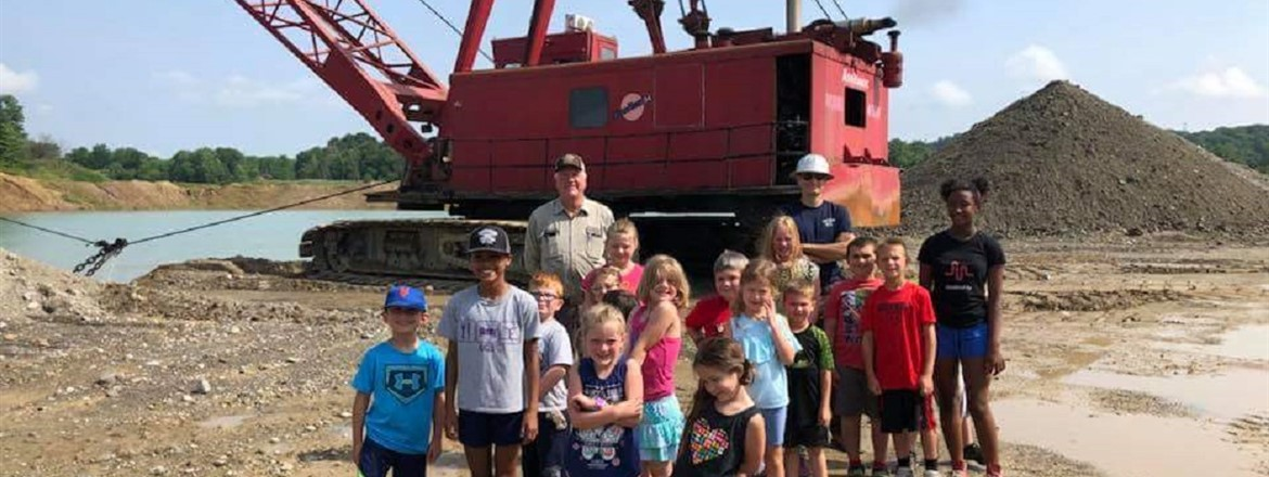 Thank You Lakeside Sand and Gravel for the tour, the kids loved it! #happytrailssummercamp #lakesidesandandgravel