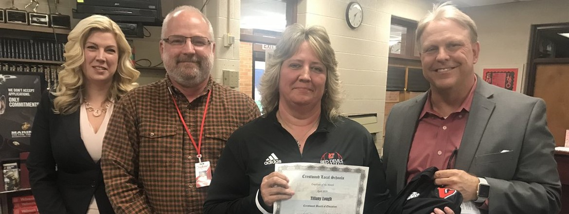 Congratulations Tiffany Lough Employee of the Month of April!