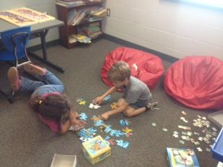Puzzles are a blast in Mrs. Lowe's Class!