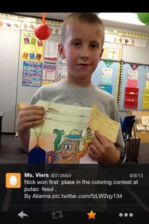 Way to go - 1st place in the coloring contest at the Mantua Potato Festival!