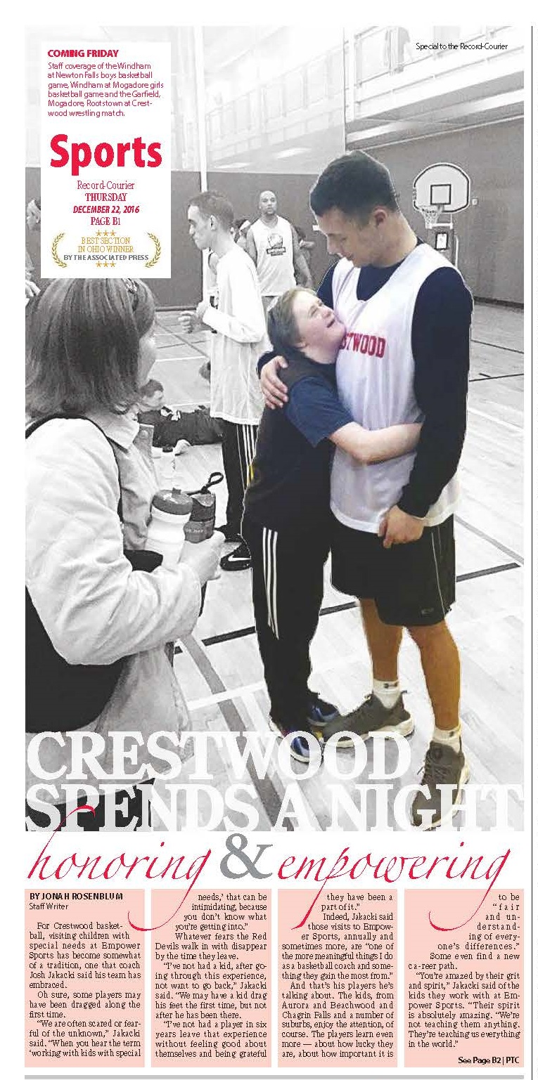 Crestwood Boy's Basketball Spends the Night Honoring and Empowering